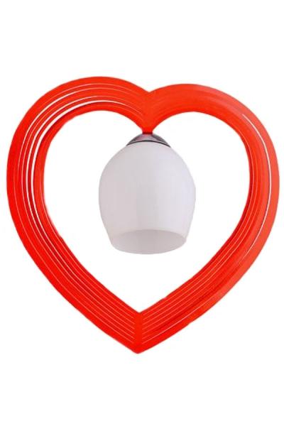 Tekli Kalp Avize Kırmızı