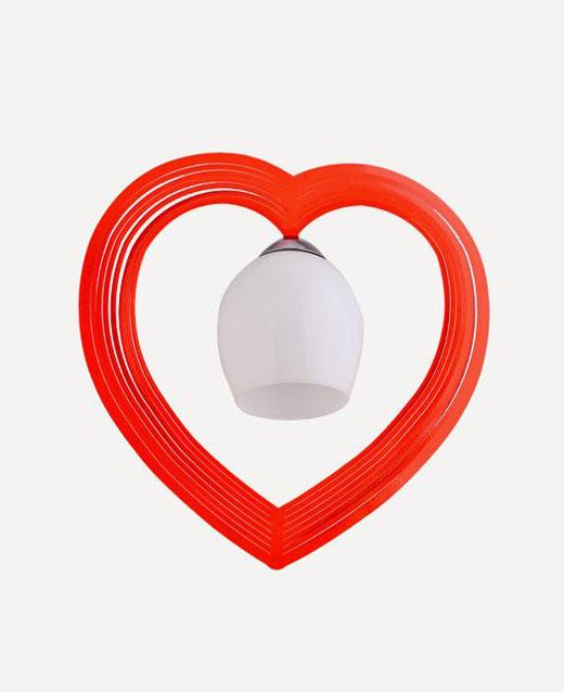 Tekli Kalp Avize